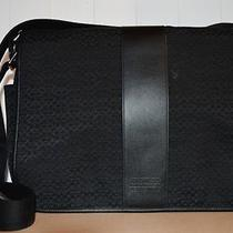 Coach Black Mini Signature Commuter Laptop Briefcase Diaper Messenger Bag F77004 Photo