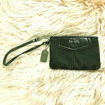 Coach Black Monogram Mini Wristlet Clutch Photo