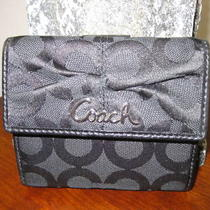 Coach Black Parker Optic Art French Purse 42457 - Nwt Photo