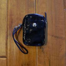 Coach Black Patent Leather Cell Phone Ipod Wristlet Case Photo