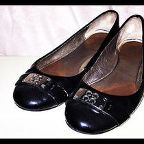 Coach Black Patent Leather Flats Women's Ssize 8 Mb Iob Photo