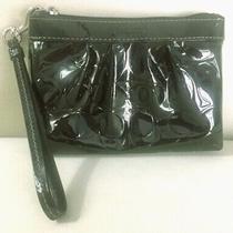 Coach Black Patent Leather Wristlet Wallet Clutch Purse Photo