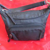 Coach Black Purse/tote Handbag Durable Canvas Leather Career Style  Photo