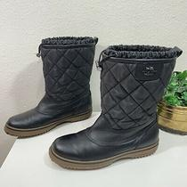 Coach Black Quilted Samara Snow Winter Boots Womens Size 8.5 B Photo