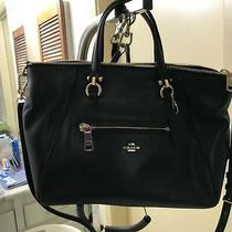 Coach Black Satchel Bag Purse - Medium - Large