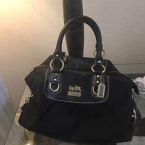 Coach Black Satchel Handbag Photo