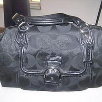 Coach Black Satchel Signature Jacquard Campbell Handbag  Photo
