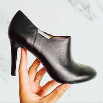 Coach Black Seneca Glazed Ankle Booties Size 7.5b Photo