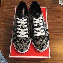 Coach Black Sequin Sneakers Photo