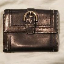 Coach Black Signature Clutch Wallet Photo