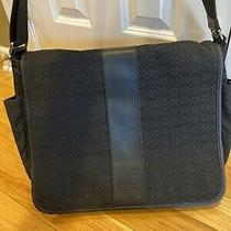Coach Black Signature Messenger Travel Diaper Laptop Bag B0985-F77004 Photo