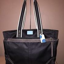 Coach Black Signature Tote Diaper Bag Canvas Black Lining Photo