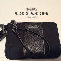 Coach Black Signature Wristlet Nwt Photo