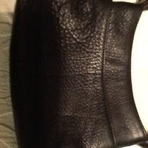 Coach Black Small Leather Cross Body Bag Euc Photo