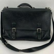 Coach Black Soft Leather Laptop Briefcase Shoulder Messenger Bag K15-5310 Photo