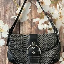 Coach Black Soho Mini Signature Flap Shoulder Bag 6818 Photo
