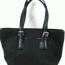 Coach  Black Twill Satchel  Photo