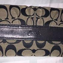 Coach Black Wallet With Print Photo