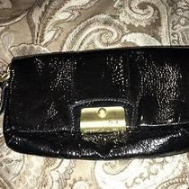 Coach Black Wristlet Clutch Patent Leather Gorgeous Previously Owned Photo