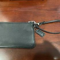 Coach Black Wristlet Purse Wallet Leatherware Est 1941 Excellent Condition W/bag Photo
