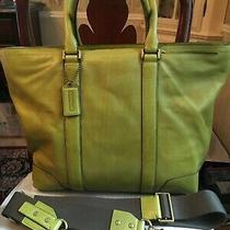 Coach Bleecker Business Tote Bag--Extra Large--Style 70600--Lime Green  Photo