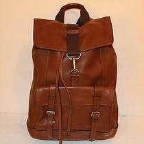 Coach Bleeker Leather Backpack in Mahogany (Style 70786) Photo