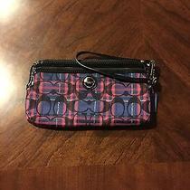 Coach Blue and Purple Wristlet Wallet Photo