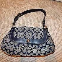 Coach Blue Handbag/tote Photo