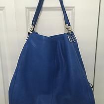 Coach Blue Lacquer Madison Leather Phoebe Shoulder Bag Purse 358 Mint Photo