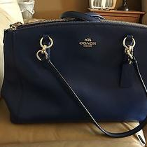 Coach Blue Leather Christie Handbag Barely Used Photo