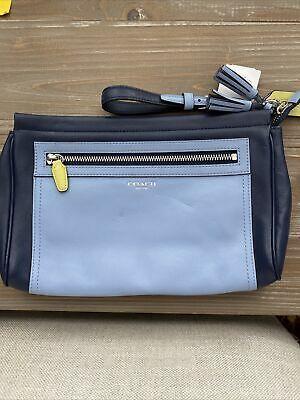Coach Blue Leather Clutch Bag Wristlet Photo