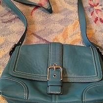 Coach Blue Leather Handbag Photo