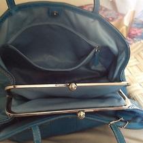 Coach Blue Leather Handbag Photo