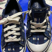 Coach Blue Plaid Barrett Sneakers Sz. 8 B Photo