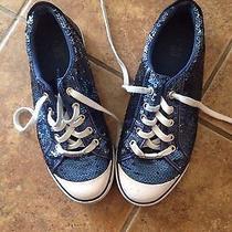 Coach Blue Sequin Garrett Sneakers Size 9  Photo