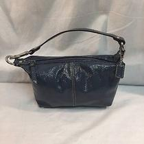 Coach Blue Shoulder Purse Photo