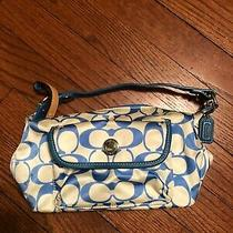 Coach Blue Signature C Small Handbag/purse Photo