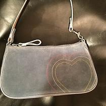 Coach Blue Suede With Heart Small Purse Photo