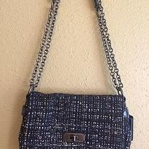 Coach Blue Tweed Sequined Bag Photo