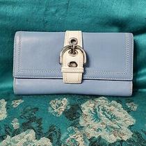 Coach Blue/white Envelope Wallet .measurement 7.75