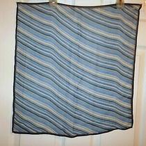 Coach Blue/white Stripe Silk Handkerchief Neck Head Purse Tie Square Scarf Photo