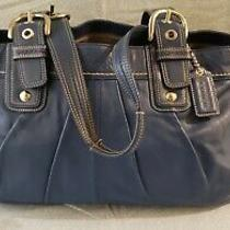 Coach Blue X Large Leather Tote Photo