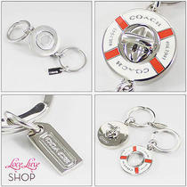 Coach Boat Life Preserver Nautical 2 In1 Turnlock Valet Key Chain Ring Fob Beach Photo
