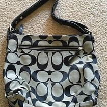 Coach Boho Shoulder Bag Tan and Black  Photo