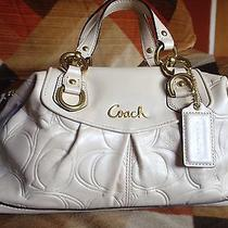 Coach Bone Ashley Leather Satchel Photo