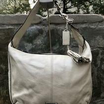 Coach Bone White Avery Leather Small Hobo Handbag Purse F23960 (U300 Photo