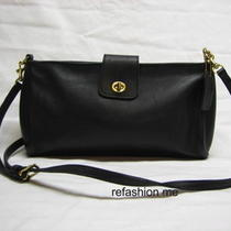 Coach Bonnie Cashin Black Leather Shoulder Bag Purse-Vintage-Very Nice Photo