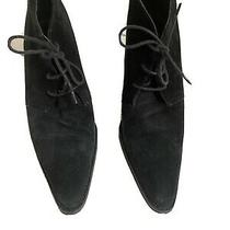 Coach Booties Betty. Top Suede  Leather Blacksize 8.5 Photo