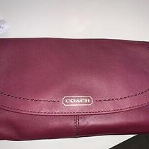 Coach Bordeaux Campbell Soft Leather Wristlet Wallet Clutch Purse F50183  Nwt Photo