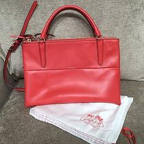 Coach Borough Bag in Retro Red Tanned Leather 30348 Photo